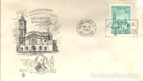 FDC 1957 (Sellos - Extranjero - América - Argentina)