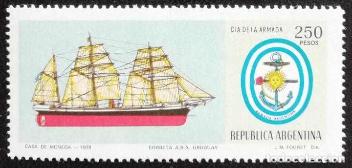 1979. BARCOS. ARGENTINA. 1184. CORBETA 'URUGUAY'. SERIE COMPLETA. NUEVO. (Sellos - Extranjero - América - Argentina)