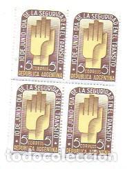 ARGENTINA 5 CTS. CORREOS REPUBLICA ARGENTINA. 10 JUNIO DÍA SEGURIDAD EN EL TRÁNSITO (Sellos - Extranjero - América - Argentina)