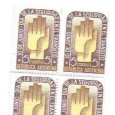 Sellos: ARGENTINA 5 CTS. CORREOS REPUBLICA ARGENTINA. 10 JUNIO DÍA SEGURIDAD EN EL TRÁNSITO. Lote 194288126