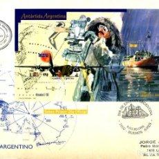 Sellos: ARGENTINA - SOBRE CON MATASELLO DEL PRIMER DIA - CORBETA URUGUAY - TEMA ANTARTIDA. Lote 200132422