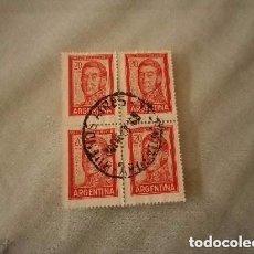 Sellos: ARGENTINA 4 SELLOS DE 20 PESOS GRAL JOSÉ DE SAN MARTÍN. Lote 200155740
