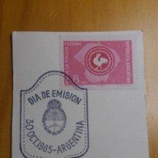 Sellos: CORREO REP. ARGENTINA, 8 PESOS, GRAN SOL, 1965.. Lote 202901371