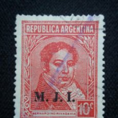 Sellos: CORREO REP. ARGENTINA, 10C, BERNARDINO, AÑO1945.. Lote 202902477