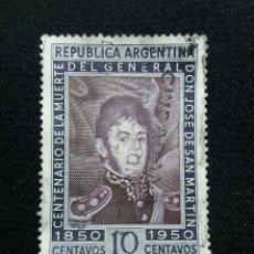 Sellos: CORREO REP. ARGENTINA, 10C, GENERAL SA MARTIN, AÑO1920.. Lote 202902697