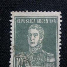 Sellos: CORREO REP. ARGENTINA, 10C, SAN MARTIN, AÑO 1924.. Lote 202903057