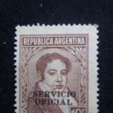 Sellos: CORREO REP. ARGENTINA, 10C, BERNARDINO, AÑO 1942. OFICIAL,. Lote 202903313