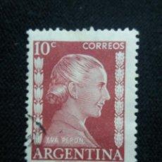Sellos: CORREO REP. ARGENTINA, 10C, EVA PERON, AÑO 1952.. Lote 202903578