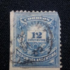 Sellos: CORREO REP. ARGENTINA, 12C, AÑO 1882.. Lote 202903780