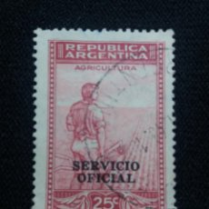 Sellos: ARGENTINA, 24C, AGRICULTOR, AÑO1911. OFICIAL.. Lote 202983173