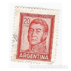 Sellos: SELLO ARGENTINA GENERAL JOSE DE SAN MARTÍN 20 PESOS. Lote 203267078