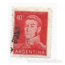 Sellos: SELLO ARGENTINA GENERAL JOSE DE SAN MARTÍN 40 C. Lote 203267168