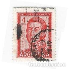 Sellos: SELLO ARGENTINA GENERAL JOSE DE SAN MARTÍN 4 PESOS. Lote 203267258