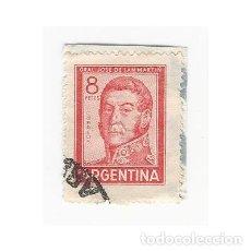 Sellos: SELLO ARGENTINA GENERAL JOSE DE SAN MARTÍN 8 PESOS. Lote 203267376