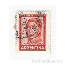 Sellos: SELLO ARGENTINA GENERAL JOSE DE SAN MARTÍN 10 PESOS. Lote 203267442