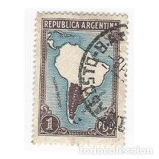 Sellos: SELLO ARGENTINA MAPA 1 PESO. Lote 203267888
