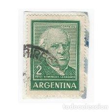 Sellos: SELLO ARGENTINA DOMINGO F. SARMIENTO 2 PESOS. Lote 203268480