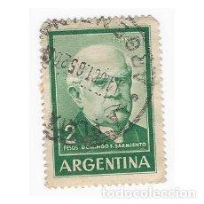 Sellos: SELLO ARGENTINA DOMINGO F. SARMIENTO 2 PESOS. Lote 203268516