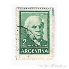 Sellos: SELLO ARGENTINA DOMINGO F. SARMIENTO 2 PESOS. Lote 203268652