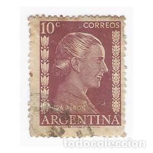 SELLO ARGENTINA EVA PERÓN 10 C (Sellos - Extranjero - América - Argentina)