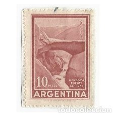 Sellos: SELLO ARGENTINA MENDOZA PUENTE DEL INCA 10 PESOS. Lote 203269802