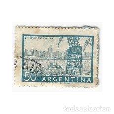 Sellos: SELLO ARGENTINA PUERTO DE BUENOS AIRES 50 C. Lote 203269888