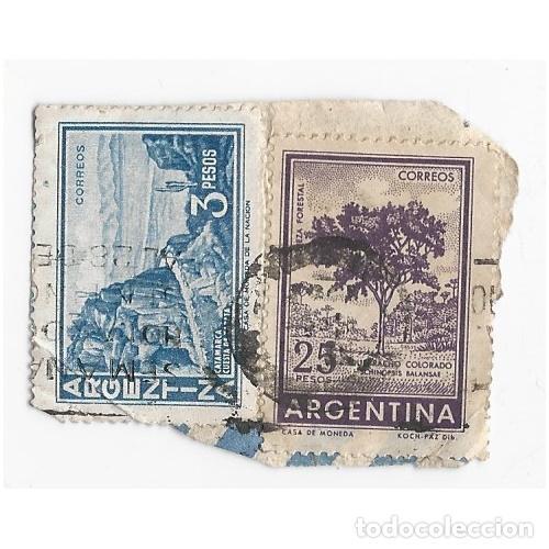 2 SELLOS ARGENTINA 3 Y 25 PESOS (Sellos - Extranjero - América - Argentina)