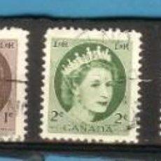Sellos: LOTE DE SELLOS DE CANADA. SERIE BÁSICA. Lote 204209583