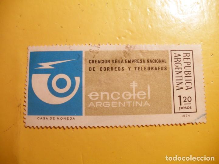 ARGENTINA 1974 - CORREOS Y TELÉGRAFOS - ENCOTEL. (Sellos - Extranjero - América - Argentina)
