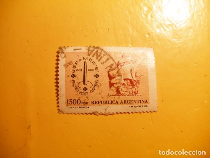 ARGENTINA 1981 - ESPAMER´81 - BUENOS AIRES - VELEROS, CARABELA. (Sellos - Extranjero - América - Argentina)