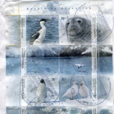 Sellos: ARGENTINA - 2007 - YVERT 2660/2667 - MINI HOJA ANTÁRTIDA ARGENTINA -. Lote 206426496