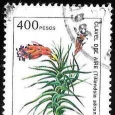 Sellos: ARGENTINA 1982. FLORES. CLAVEL DEL AIRE. VALOR EN PESOS (PESO LEY 18.188). Lote 209795046