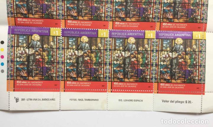 Sellos: Pliego 8 sellos: SAN JOSÉ DE CALASANZ (Argentina, 2007) Originales. Sin matasello. Sin circular. Col - Foto 2 - 212987362