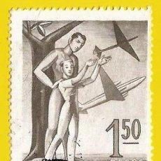 Sellos: ARGENTINA. 1955. AVIACION COMERCIAL. ALEGORIA. Lote 222132766