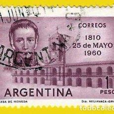 Sellos: ARGENTINA. 1960. CABILDO DE BUENOS AIRES. CORNELIO SAAVEDRA. Lote 222133890
