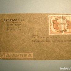 Sellos: ARGENTINA 1947 - SOBRE CIRCULADO DE BUENOS AIRES A SCHWEIZ (SUIZA) - OVEJA, LANAS.- 28 AGO. 1947. Lote 222381405