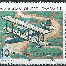 Sellos: 1977. ARGENTINA. DIA DE LA FUERZA AÉREA. **MNH. AVIONES/PLANES.. Lote 222409831