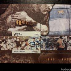 Francobolli: ARGENTINA YVERT HB-64 SERIE COMPLETA NUEVA ***. 1999. DEPORTES. RUGBY.. Lote 222952456