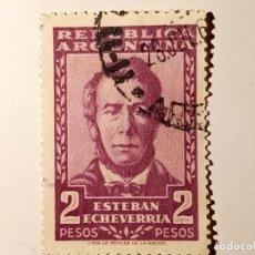 Sellos: ARGENTINA 1957 ESTEBAN ECHEVERRÍA, 1.805 - 1.851. ESCRITOR.. Lote 226097980