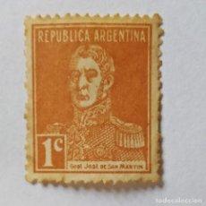 Sellos: ARGENTINA. SELLO USADO DE 1C DE 1923. GRAL. J.FCO. SAN MARTÍN. ENVÍO GRATIS POR PEDIDOS DE 3€ Ó MÁS.. Lote 231993950