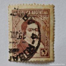 Sellos: ARGENTINA. SELLO USADO DE 10C DE 1935. BERNARDINO RIVADAVIA. ENVÍO GRATIS POR PEDIDOS DE 3€ Ó MÁS.. Lote 231996185