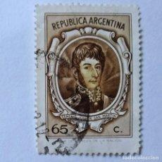 Sellos: ARGENTINA. SELLO USADO DE 65C, 1972, GRAL. J. DE SAN MARTÍN. ENVÍO GRATIS POR PEDIDOS DE 3€ Ó MÁS.. Lote 232456460