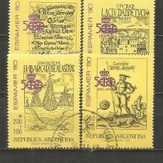 Sellos: ARGENTINA ESPAMER´90 YVERT NUM. 1691/1694 SERIE COMPLETA USADA. Lote 235251495