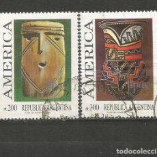 Sellos: ARGENTINA YVERT NUM. 1695/1696 SERIE COMPLETA USADA. Lote 235251795