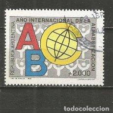Sellos: ARGENTINA YVERT NUM. 1724 SERIE COMPLETA USADA. Lote 235252825