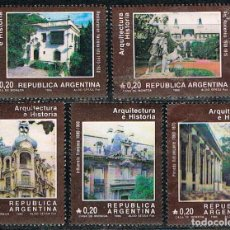Sellos: ARGENTINA Nº 1818/22, ARQUITECTURA DE BUENOS AIRES, USADO, SERIE COMPLETA. Lote 239695155