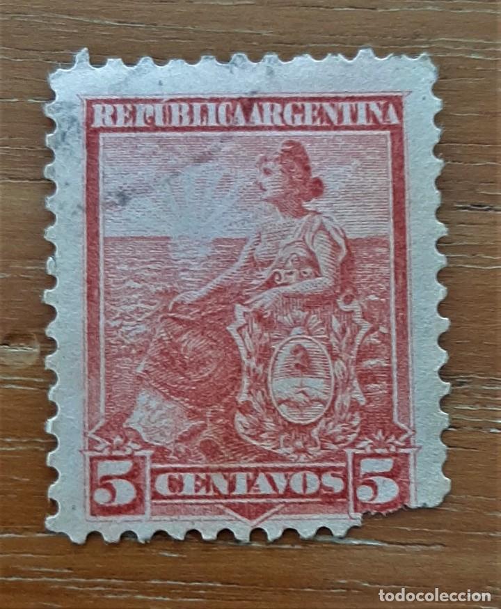 SELLO USADO. REPÚBLICA ARGENTINA. 5 CENTAVOS 1899 (Sellos - Extranjero - América - Argentina)