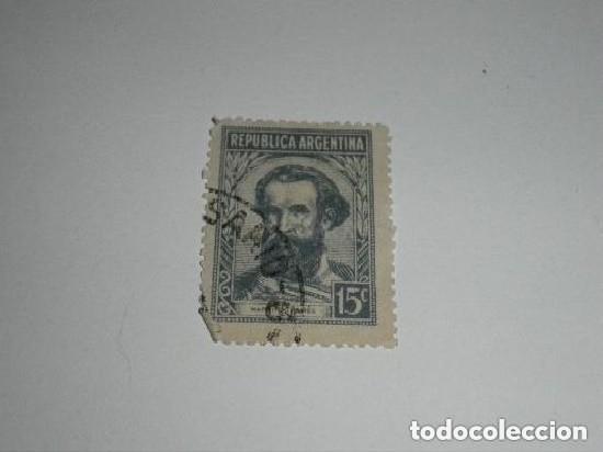 SELLO DE 15 CÉNTIMOS DE ARGENTINA USADO (Sellos - Extranjero - América - Argentina)