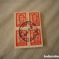 Sellos: ARGENTINA 4 SELLOS DE 20 PESOS GRAL JOSÉ DE SAN MARTÍN. Lote 244771235