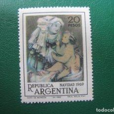 Sellos: +ARGENTINA, 1969,NAVIDAD, YVERT 861. Lote 245257345
